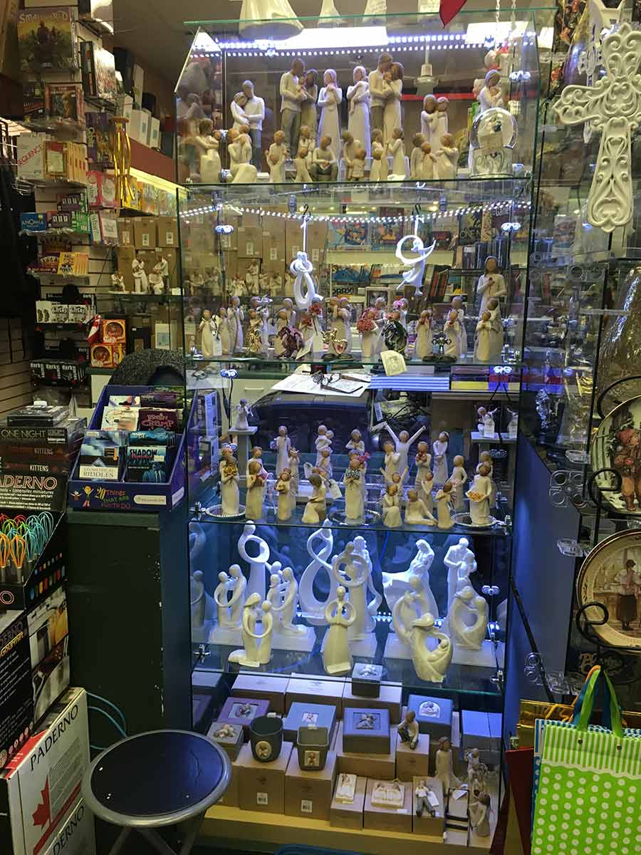 wide range of figurines on display
