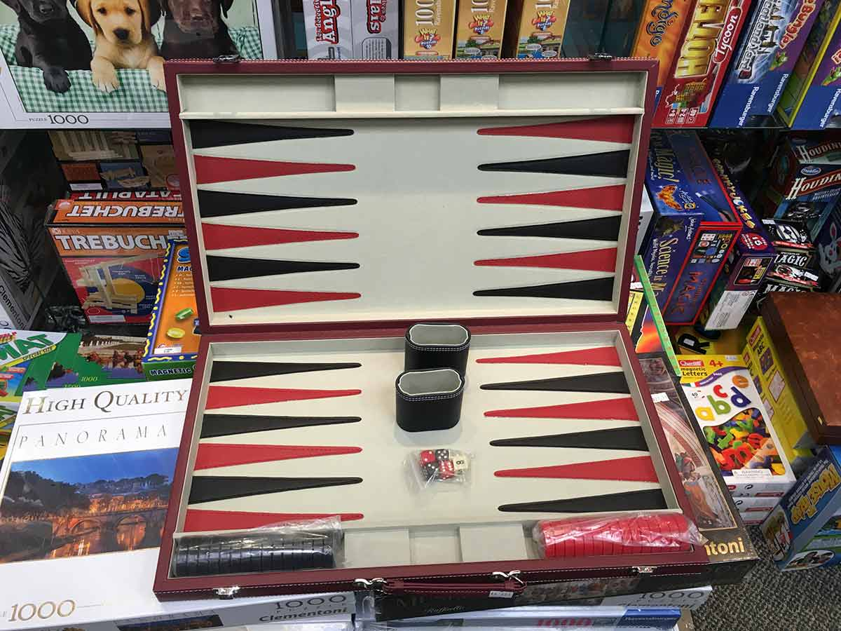 open Backgammon set