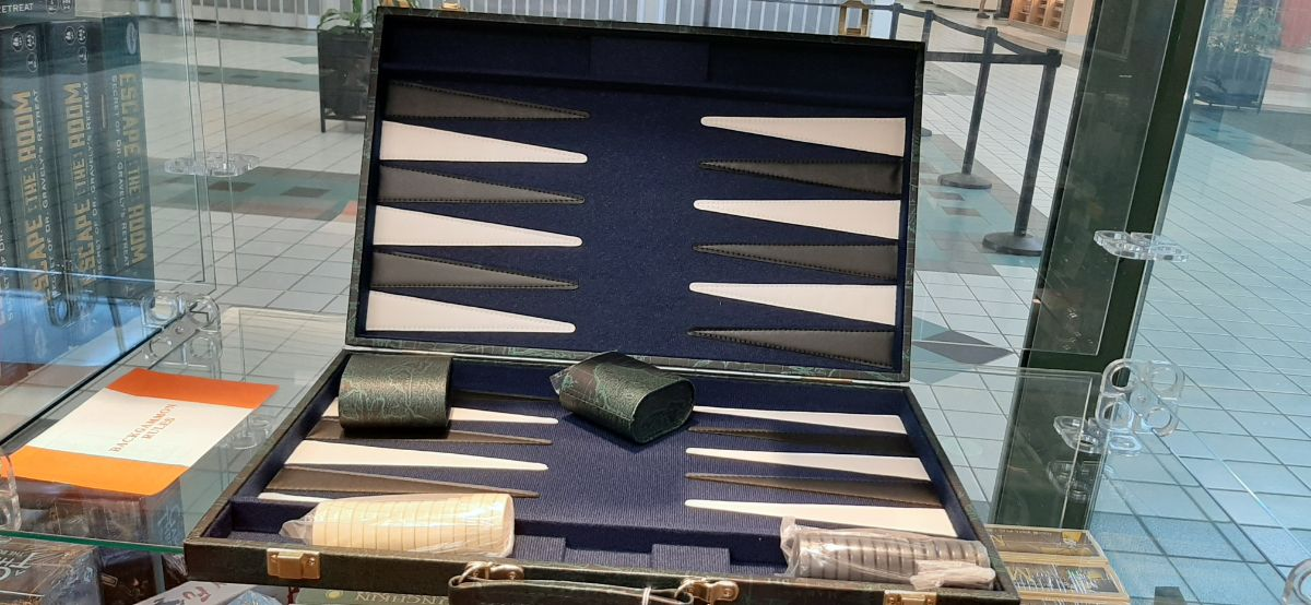 Blue and grey colour Backgammon set