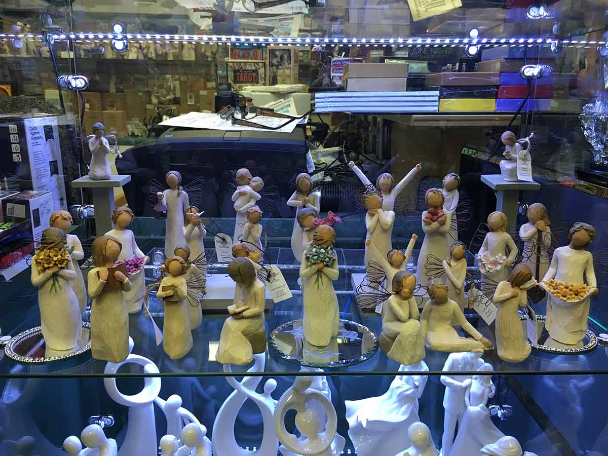 range of figurines on display