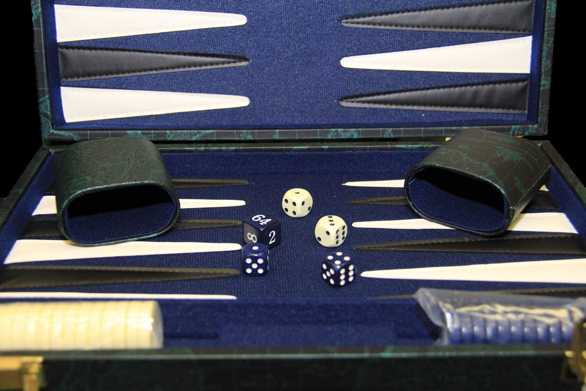 blue colour Backgammon set