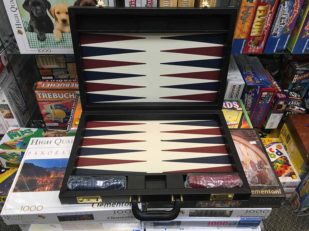 top view of Backgammon set