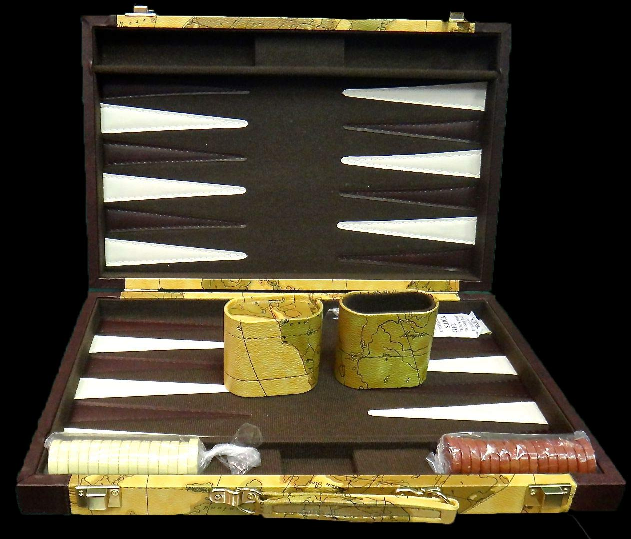 front view of Backgammon set