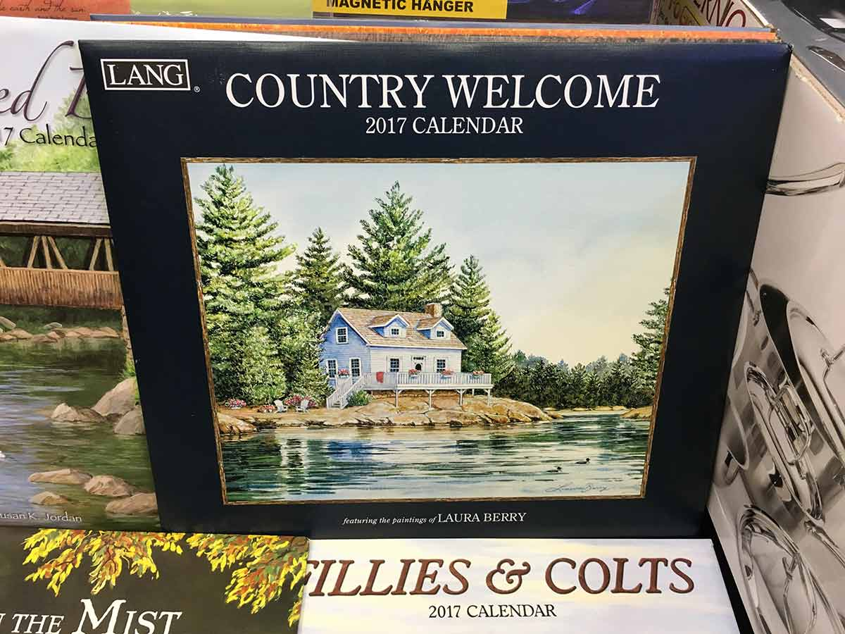 Country welcome 2017 calendar